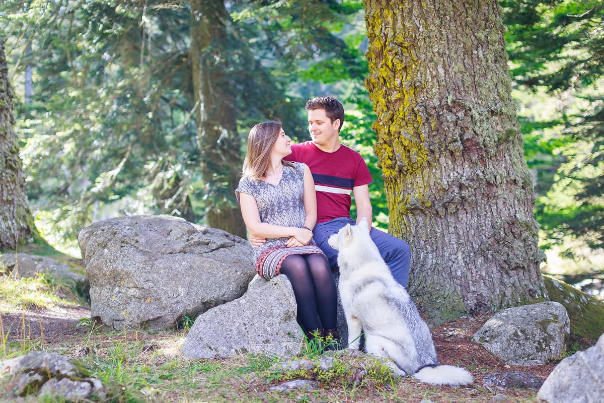 séance couple à la montagne
