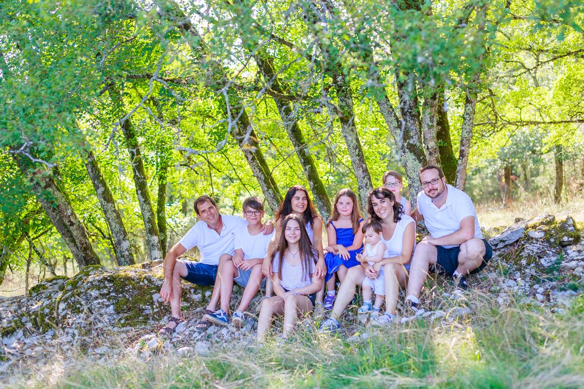 Photos de famille dans le Lot