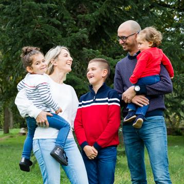 seance photo famille dans le Lot